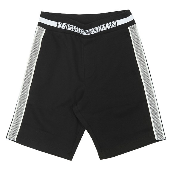 Emporio Armani Boys Black Side Taping Jog Short