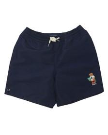 Polo Ralph Lauren Boys Blue Captiva Surf Bear Logo Swim Short