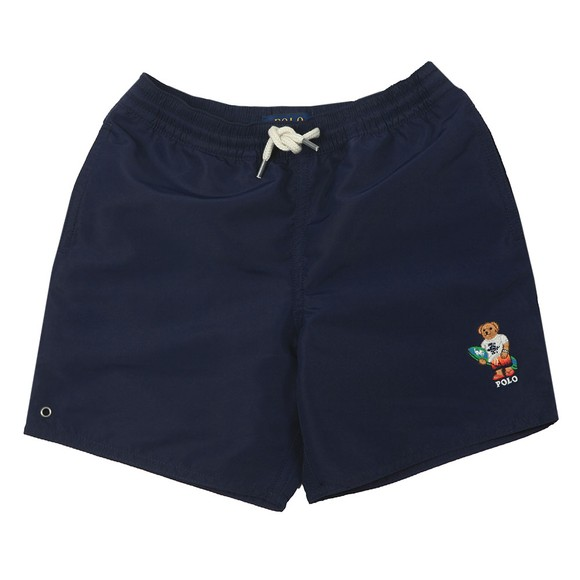 Polo Ralph Lauren Boys Blue Captiva Surf Bear Logo Swim Short