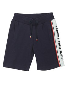 Tommy Hilfiger Kids Boys Blue Tape Logo Sweatshort