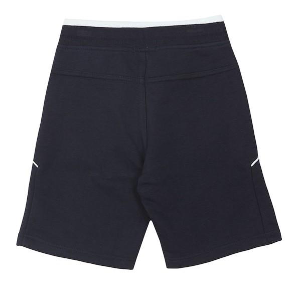 BOSS Boys Blue J24628 Logo Jersey Short