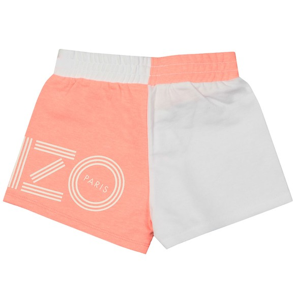 Kenzo Kids Girls White Sport Line Jog Short
