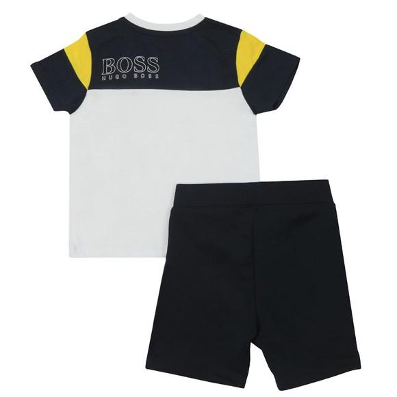 BOSS Boys White Baby T Shirt & Short Set main image
