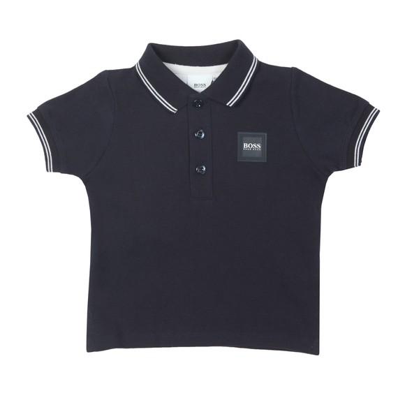 BOSS Boys Blue Tipped Baby Polo Shirt main image