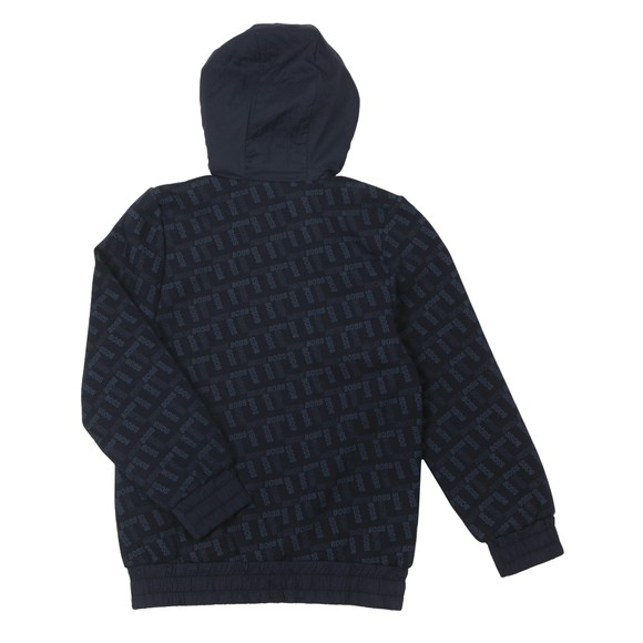 BOSS Boys Blue Logo Full Zip Hoody