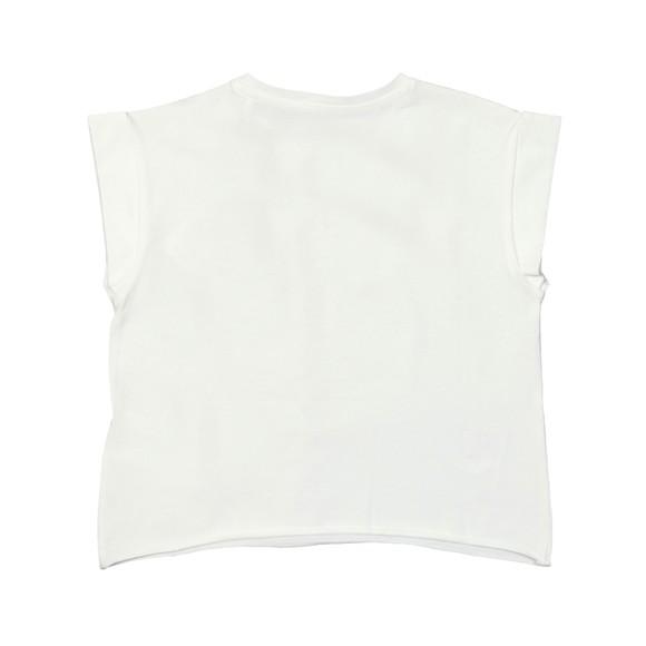Guess Girls White Midi Triangle T-Shirt