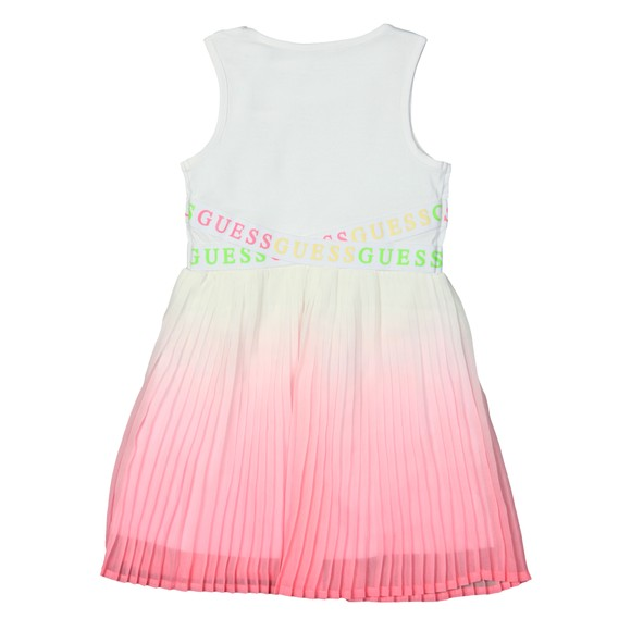 Guess Girls White Mixed Fabric Vest Dress