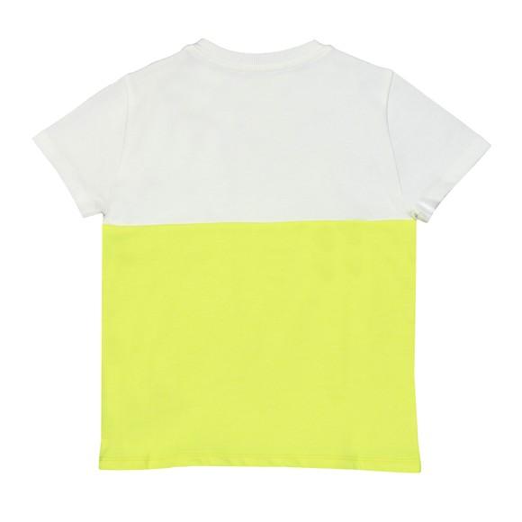 Kenzo Kids Girls Yellow Large Tiger Print Duo Colour T-Shirt