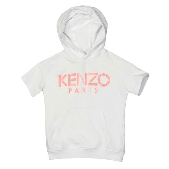 Kenzo Kids Girls White Logo JG 7 Hoody