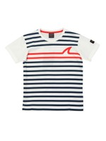 Striped Shark Logo T-Shirt