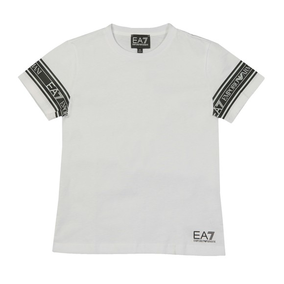 EA7 Emporio Armani Boys White Arm Taping T-Shirt