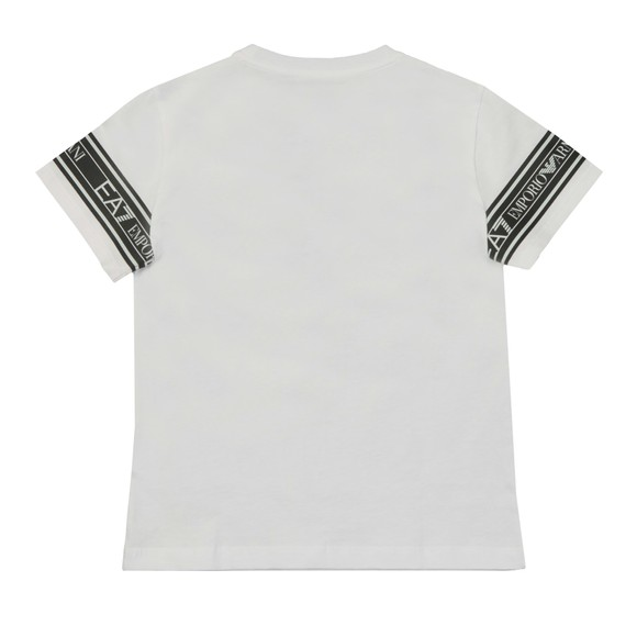 EA7 Emporio Armani Boys White Arm Taping T-Shirt main image