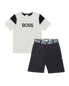 BOSS Boys White J28072 T Shirt & Short Set