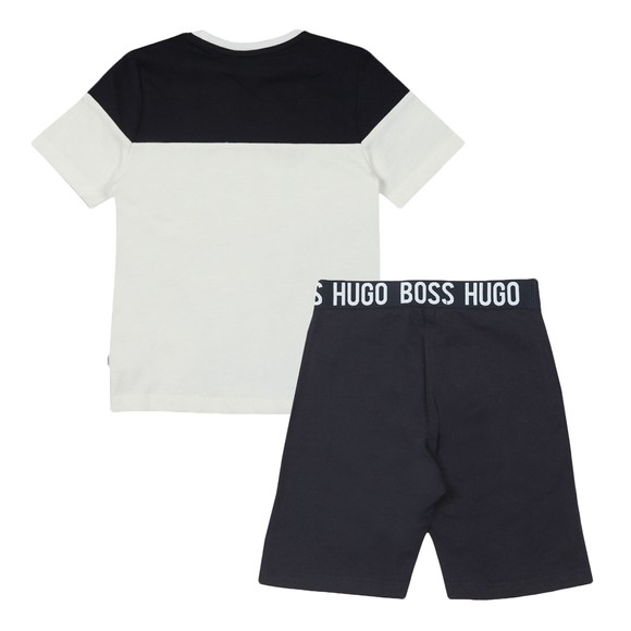 BOSS Boys White J28072 T Shirt & Short Set main image