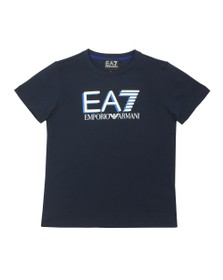 EA7 Emporio Armani Boys Blue Large Logo T-Shirt