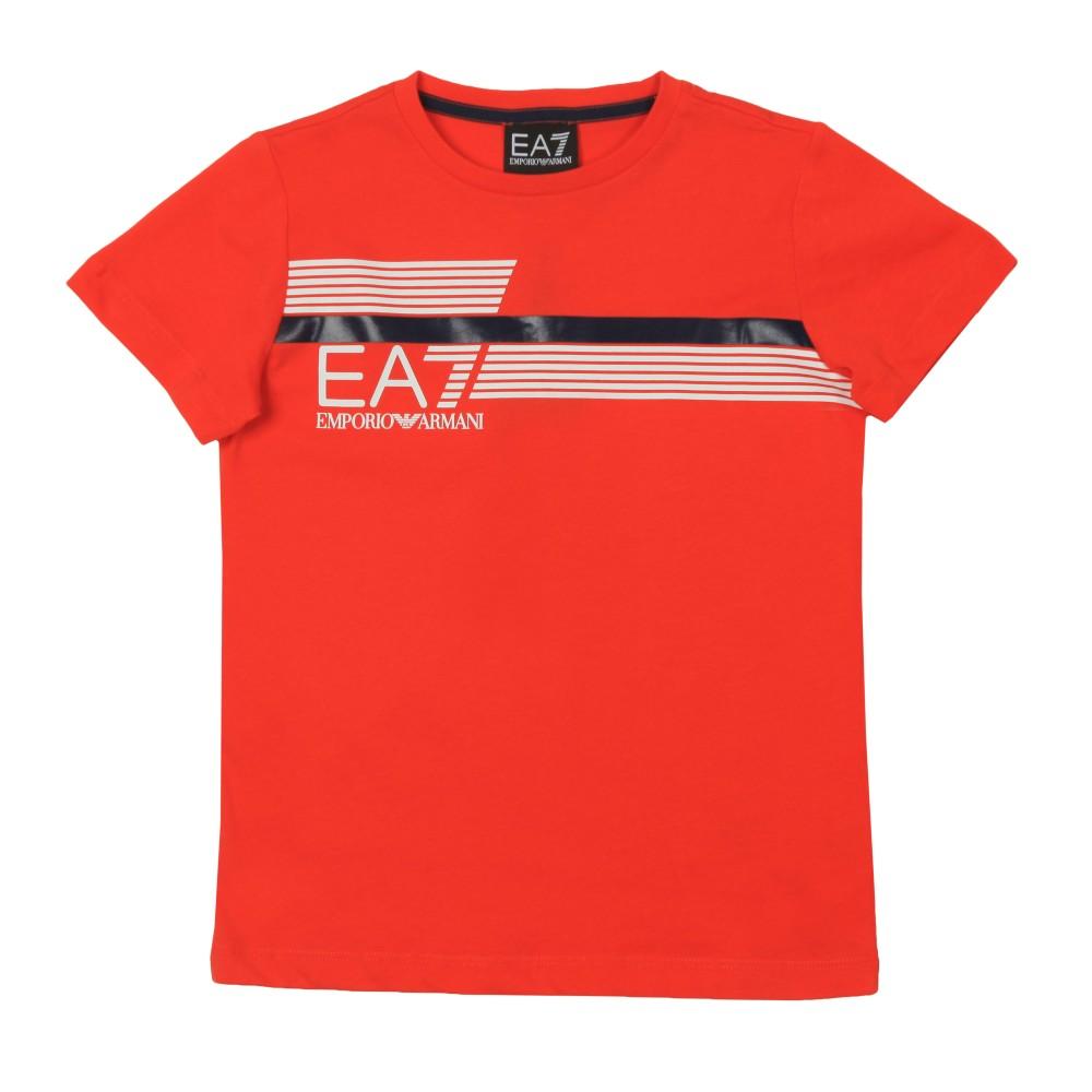 7 Lines Stripe Logo T Shirt main image