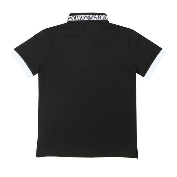 Emporio Armani Boys Black Tape Logo Polo Shirt main image
