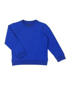 Emporio Armani Boys Blue Embossed Logo Crew Sweatshirt