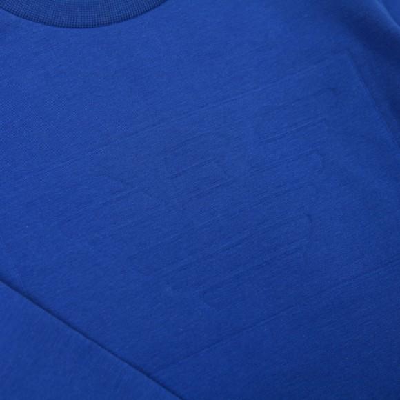 Emporio Armani Boys Blue Embossed Logo Crew Sweatshirt main image