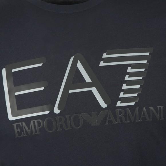 EA7 Emporio Armani Mens Blue Reflective Logo T-Shirt main image