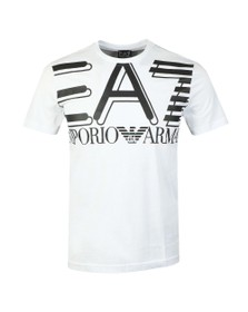 EA7 Emporio Armani Mens White Big Logo T-Shirt