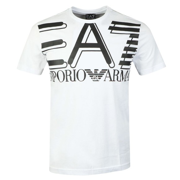 EA7 Emporio Armani Mens White Big Logo T-Shirt