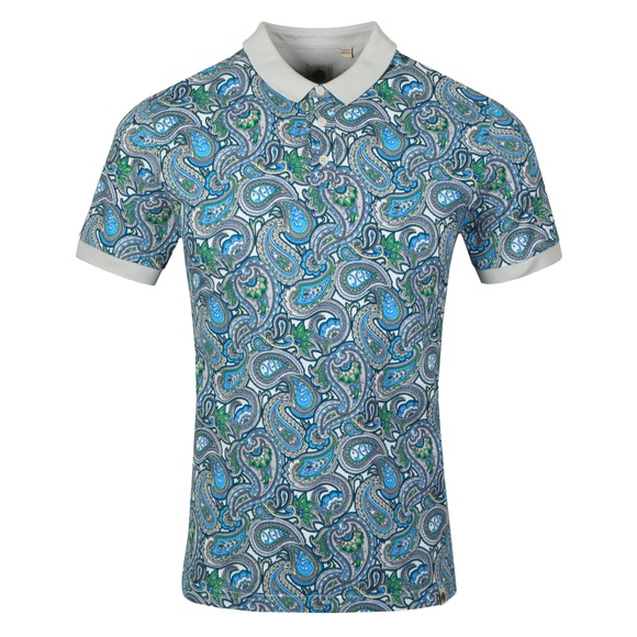 Pretty Green Mens Green Paisley Print Polo Shirt