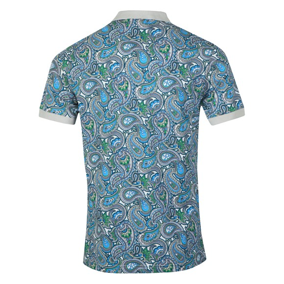 Pretty Green Mens Green Paisley Print Polo Shirt main image