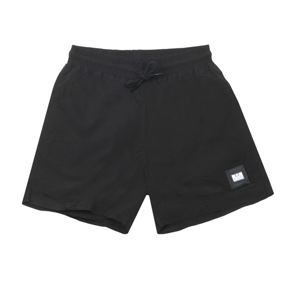 Weekend Offender Mens Black Stacks Nylon Short