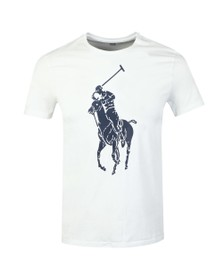 Polo Ralph Lauren Mens White Large Polo Logo T-Shirt