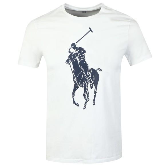 Polo Ralph Lauren Mens White Large Polo Logo T-Shirt