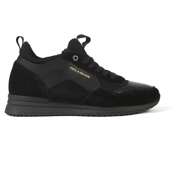 Paul & Shark Mens Black Mako Trainer