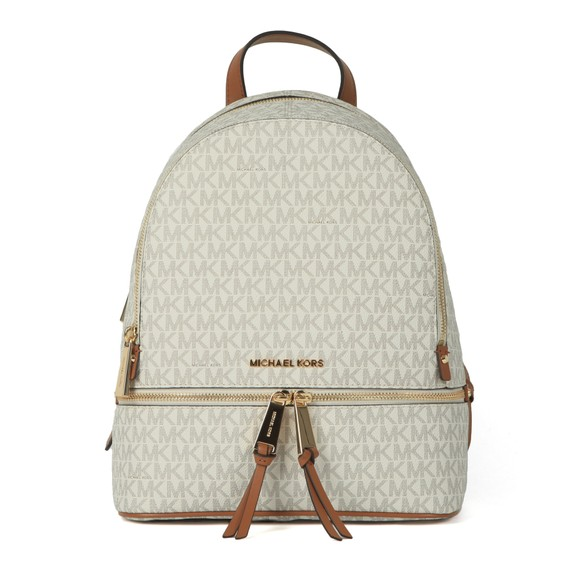 Michael Kors Womens Off-White Rhea Zip Backpack