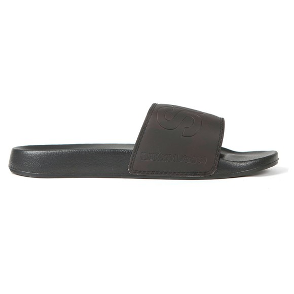 Superdry Mens Black Magic Camo Beach Slide