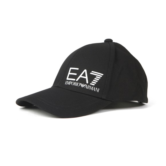 EA7 Emporio Armani Mens Black Core Logo Cap