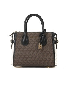 Michael Kors Womens Brown Mercer Belted Small Satchel