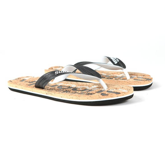 Superdry Mens Black Cork Flip Flop main image