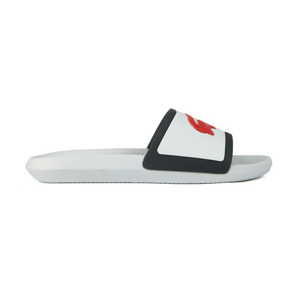 Lacoste Mens White Croco Slide