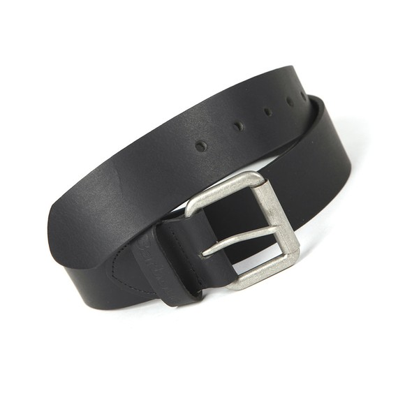 Barbour Lifestyle Mens Black Matt Leather Belt
