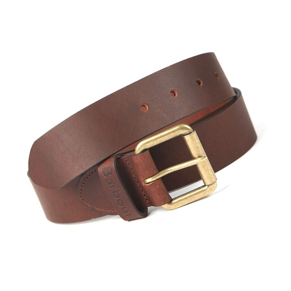 Barbour Lifestyle Mens Brown Matt Leather Belt main image