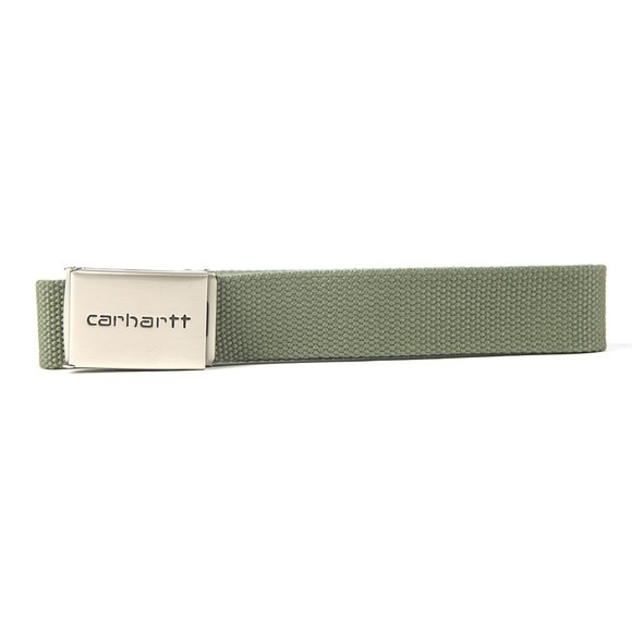 Carhartt WIP Mens Green Clip Belt Chrome