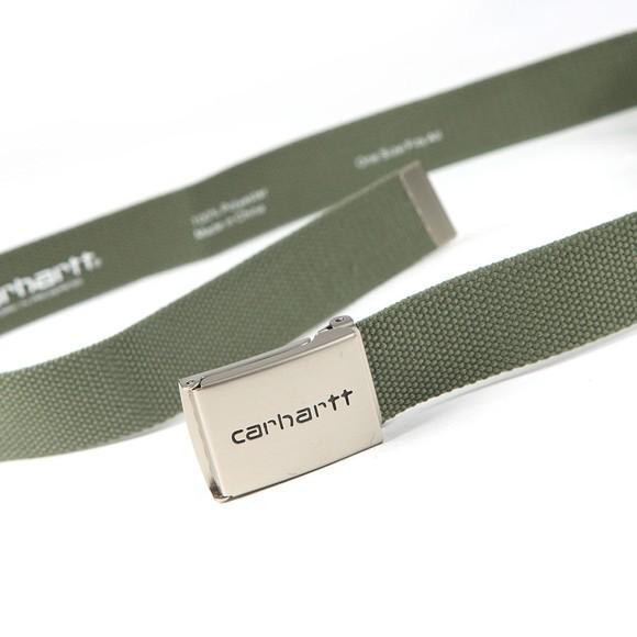 Carhartt WIP Mens Green Clip Belt Chrome main image
