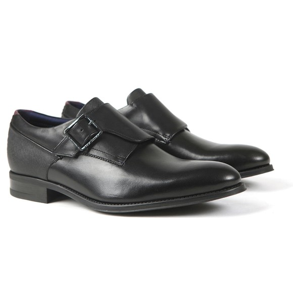 Ted Baker Mens Black Carmo Single Buckle Smart Shoe