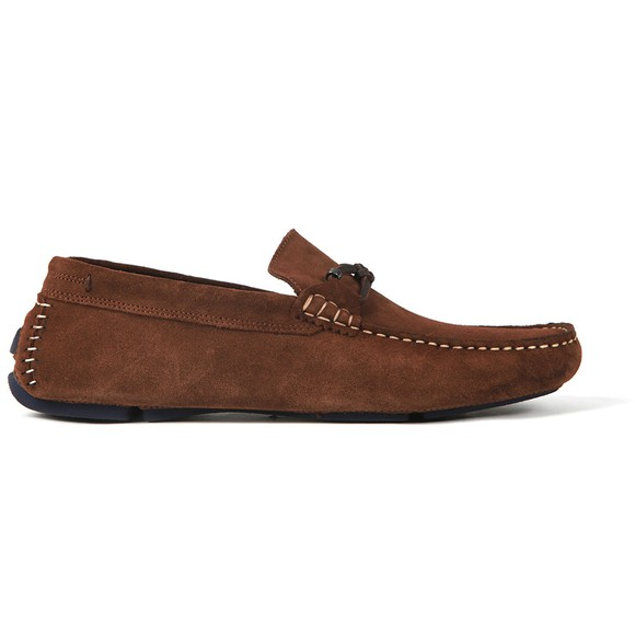 Ted Baker Mens Brown Cottn Suede Driving Shoe