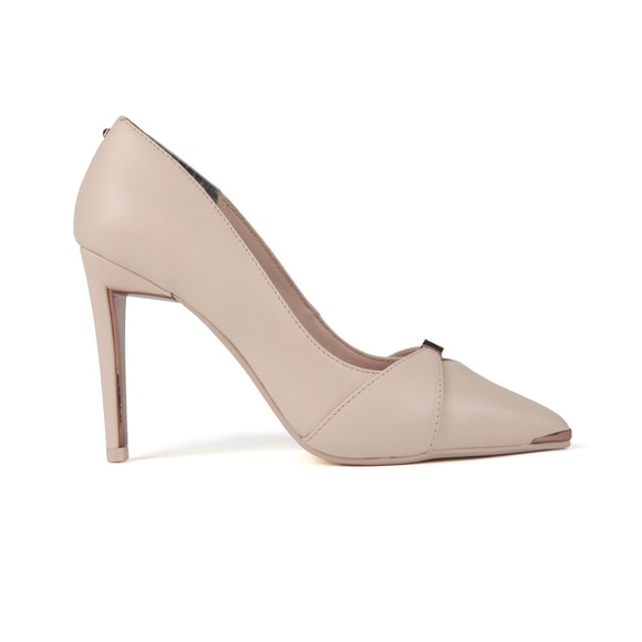 Ted Baker Womens Pink Axealil Leather Bow Strap Court Shoe