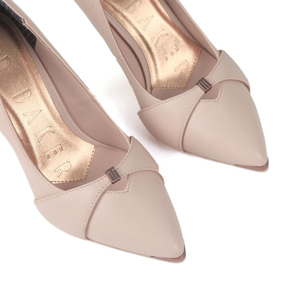 Ted Baker Womens Pink Axealil Leather Bow Strap Court Shoe main image