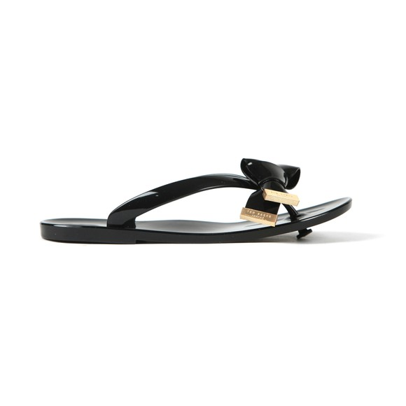 Ted Baker Womens Black Luzzi Origami Bow Flip Flop main image
