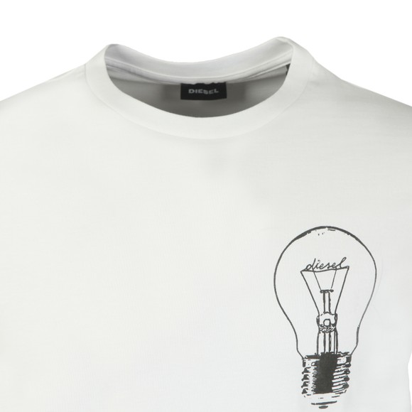 Diesel Mens White Just T22 T Shirt main image