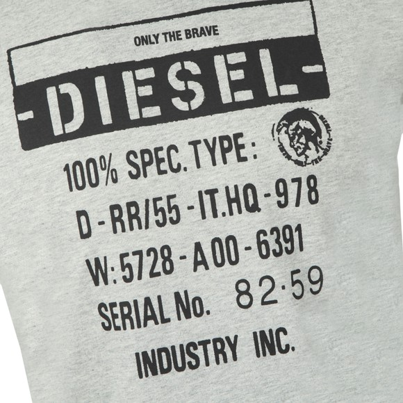 Diesel Mens Grey Diego S1 T Shirt main image