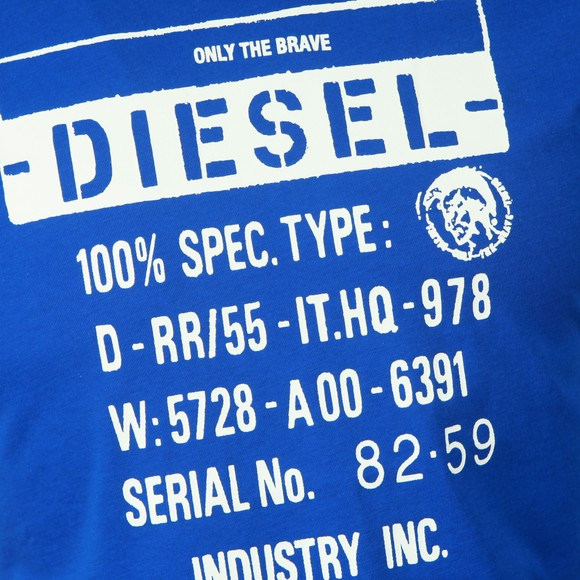 Diesel Mens Blue Diego S1 T Shirt
